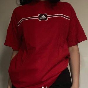 red adidas t-shirt